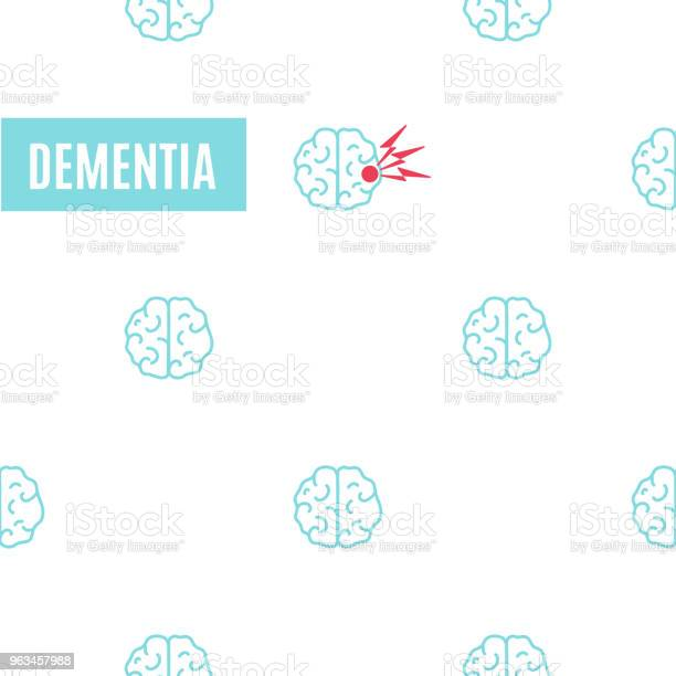 Ilustración de Cartel De Patrón De Demencia Cerebral y más Vectores Libres de Derechos de 70-79 años