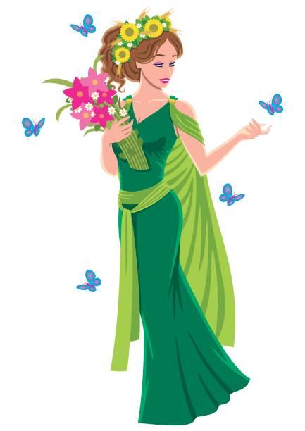 Best Demeter Goddess Illustrations, Royalty-Free Vector ...