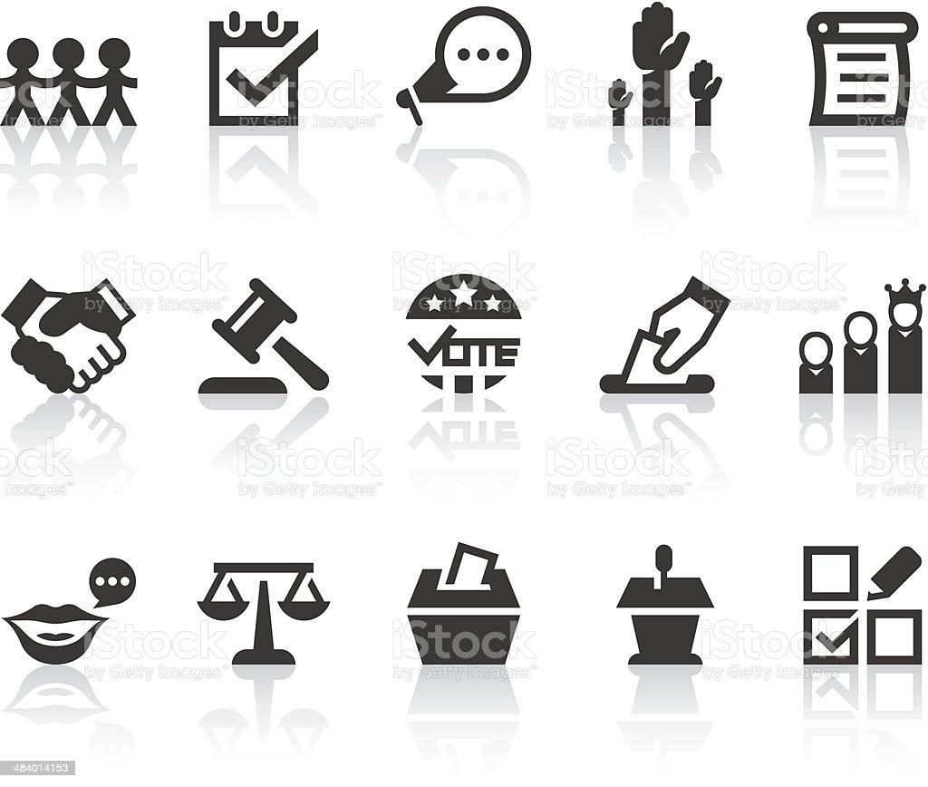 Democracy Icons | Simple Black Series vector art illustration