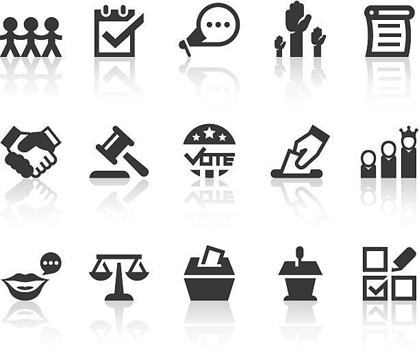 демократия иконки/серия простой черный - presidential debate stock illustrations