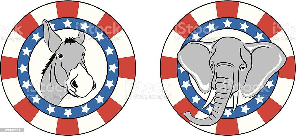 Democrat and Republican royalty-free stock vector art