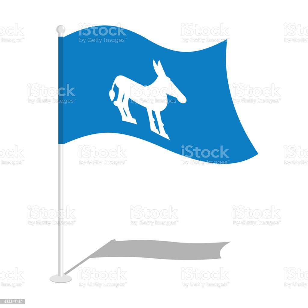 Democrat Donkey Flag National Flag Of Presidential Election In