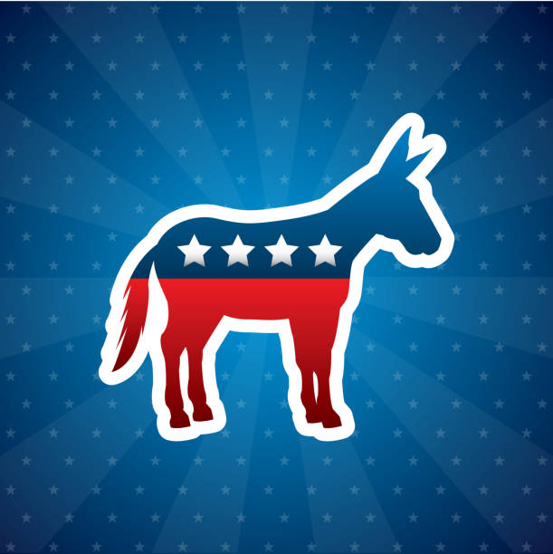 democrat political party animal vector art illustration