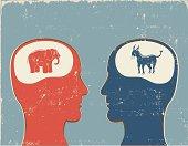 Democrat vs. Republican