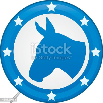 Democratic Presidential Election Voters Pin 2016