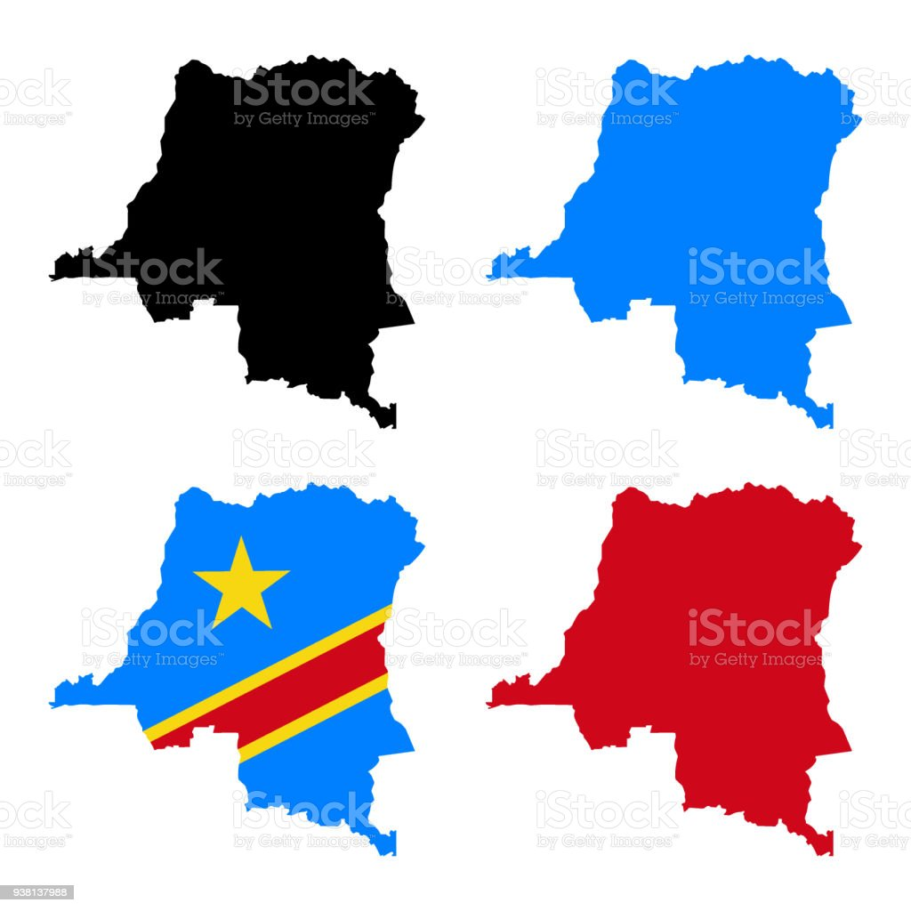 Democratic Republic Of Congo Map Stock Vector Art More Images of