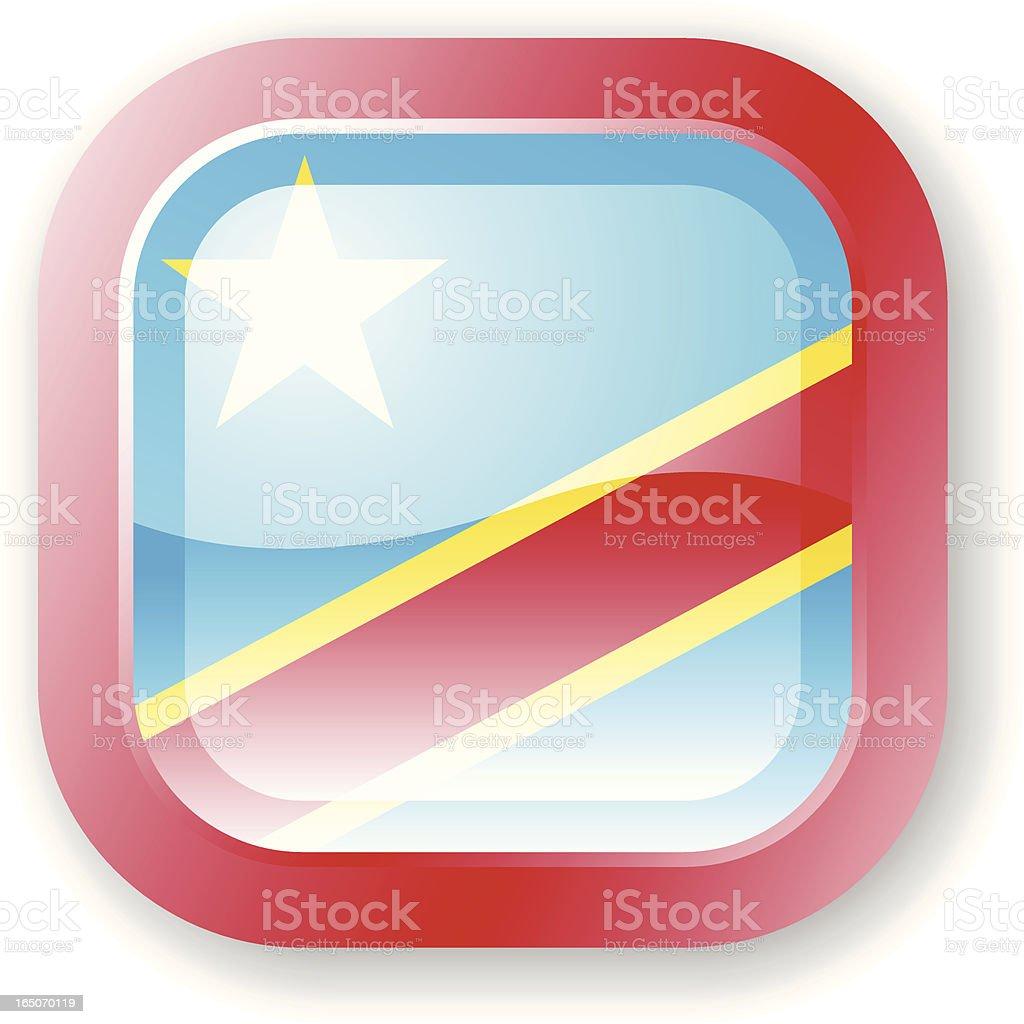 Democratic Republic of the Congo Flag Icon royalty-free stock vector art