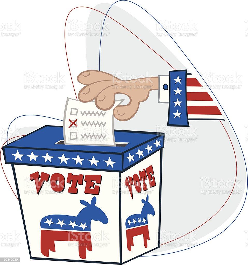 Démocratique des électeurs - clipart vectoriel de Baudet libre de droits
