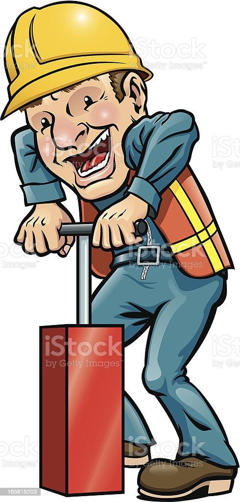 Demolition Man vector art illustration