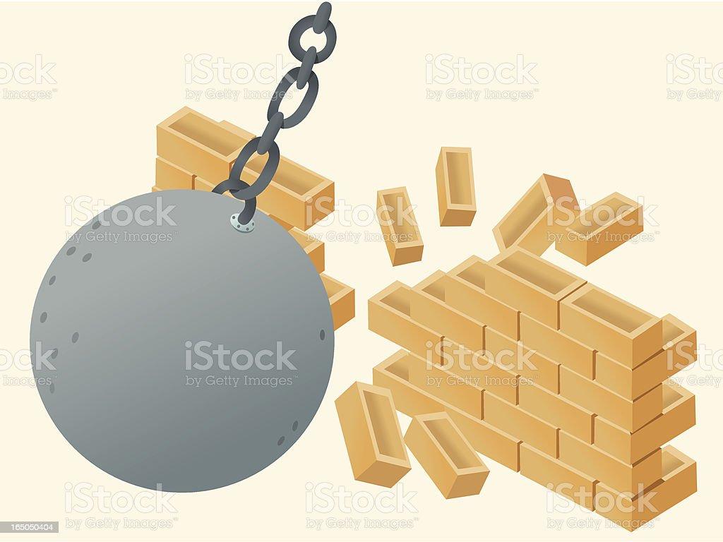 Demolition vector art illustration
