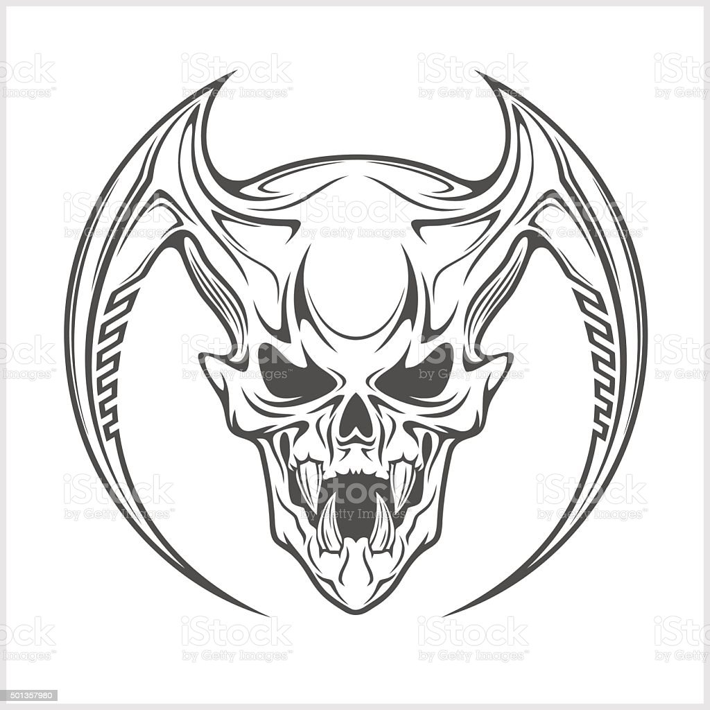 demon skull outline