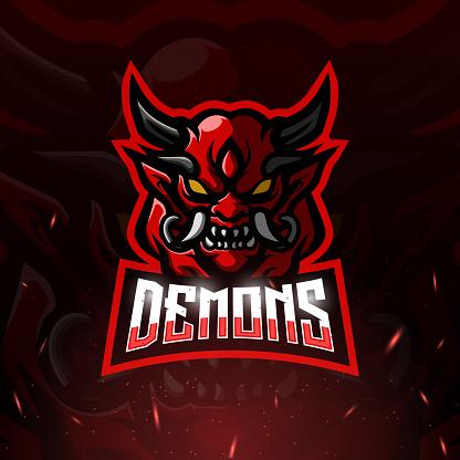 Demons mascot esport symbol design