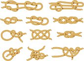 Demonstration of different types of knots