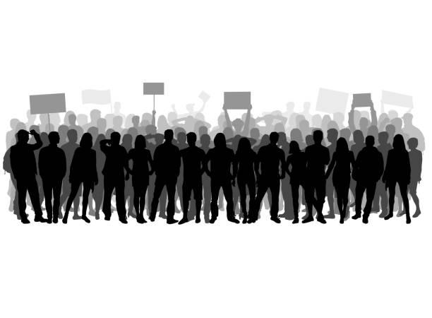 demonstration manifestation crowd of people stock illustrations