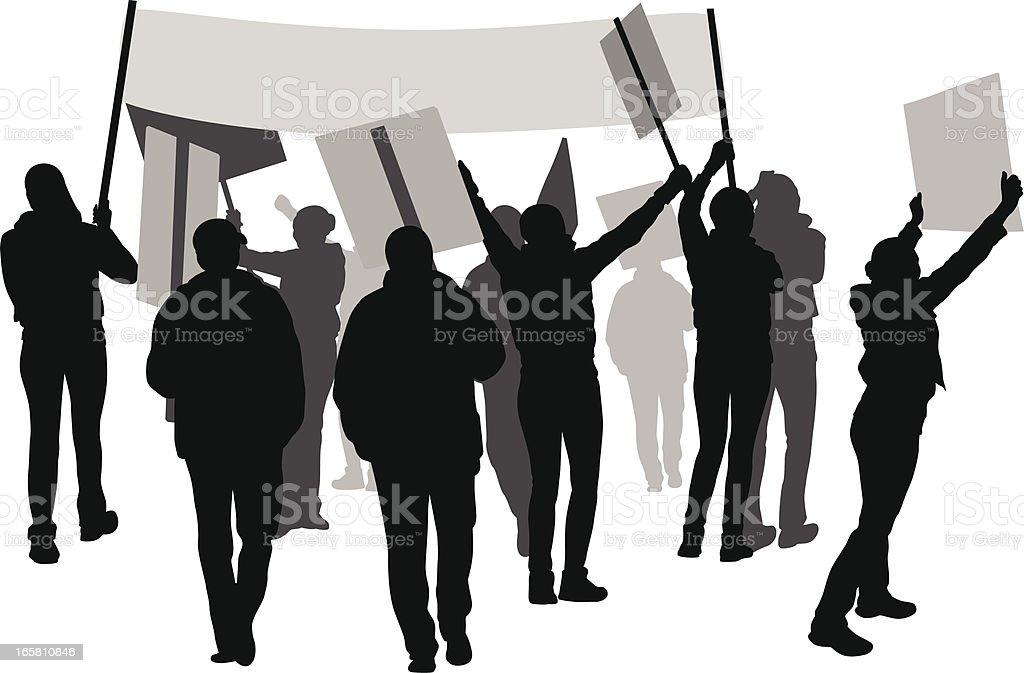 Demonstration Vector Silhouette vector art illustration