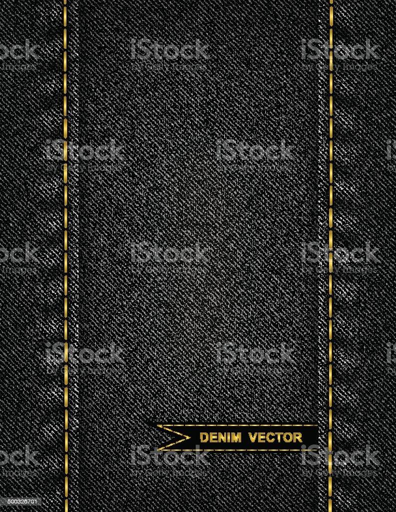 Denim background vector art illustration