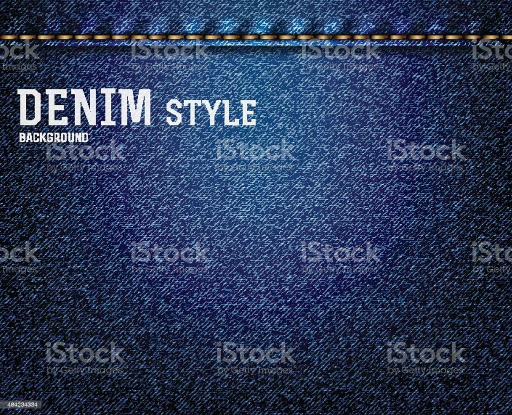Denim, jeans texture vector art illustration