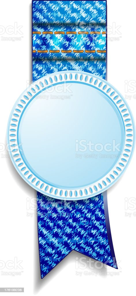 denim medal royalty-free stock vector art