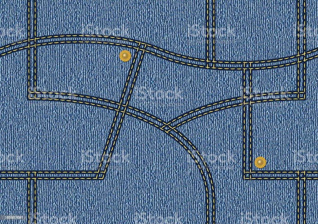 Denim Pattern royalty-free denim pattern stock vector art & more images of backgrounds