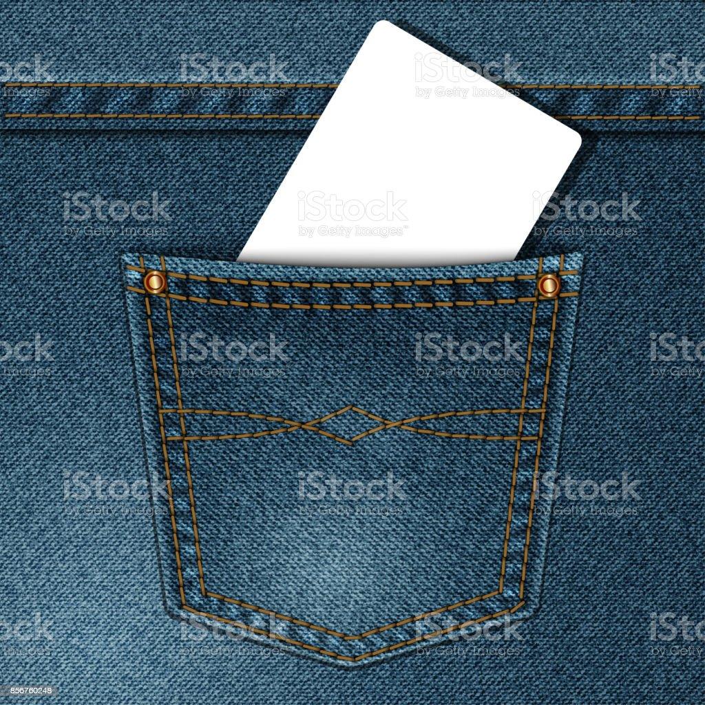 denim pocket vector art illustration