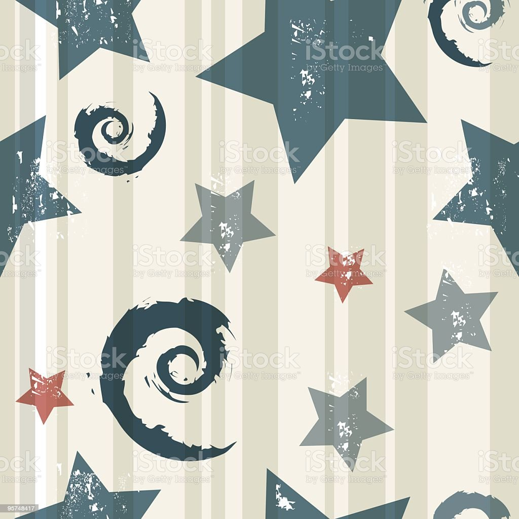 Denim stars seamless background royalty-free stock vector art