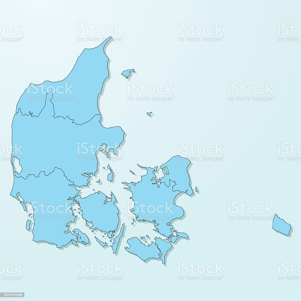 Denmark blue map on degraded background vector vector art illustration