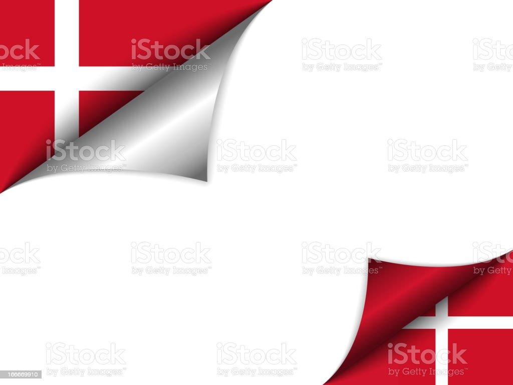 Denmark Country Flag Turning Page royalty-free denmark country flag turning page stock vector art & more images of angle