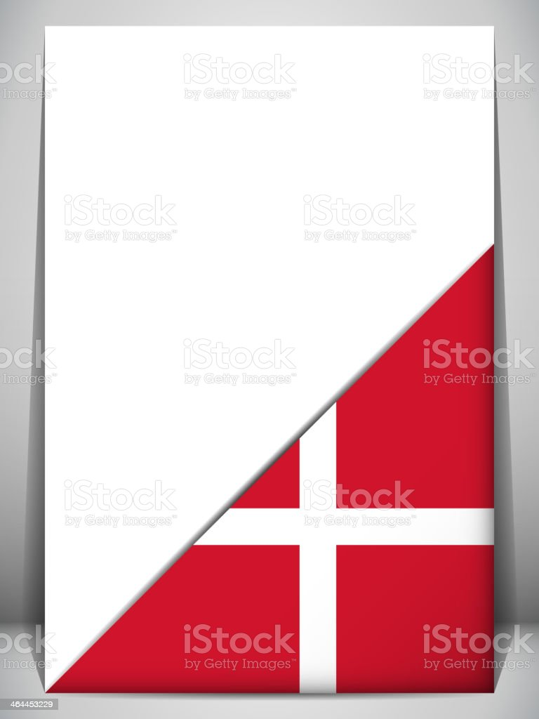 Denmark Country Flag Turning Page royalty-free stock vector art