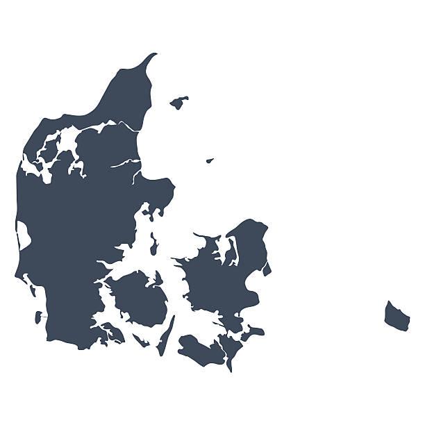 Dänemark Land Karte – Vektorgrafik