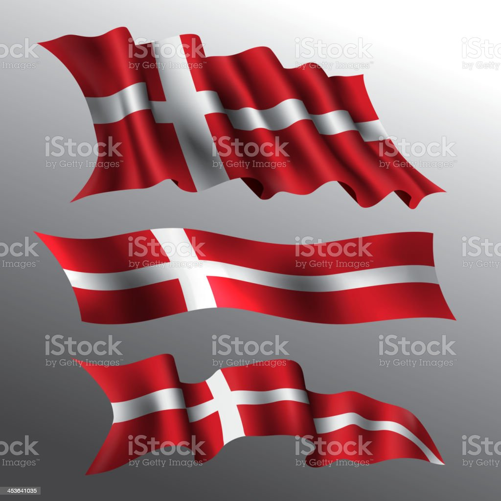 Denmark, Danish Flag royalty-free stock vector art