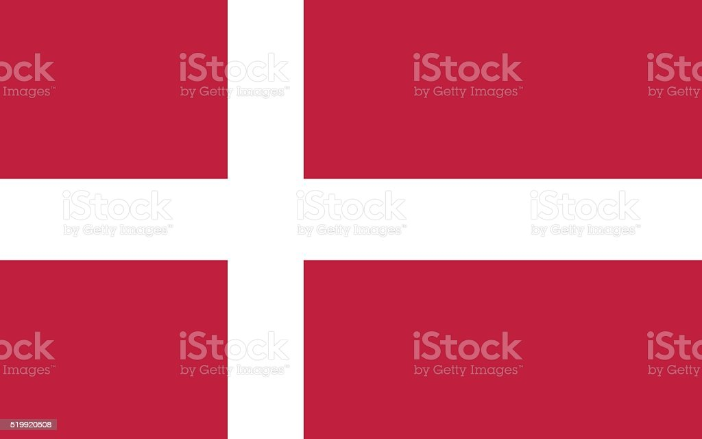 Denmark Flag vector art illustration