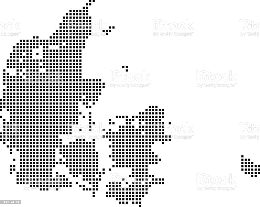 Denmark map dots. Dotted Denmark map vector outline. Highly detailed pixelated Denmark map in black and white illustration background royalty-free denmark map dots dotted denmark map vector outline highly detailed pixelated denmark map in black and white illustration background stock vector art & more images of abstract