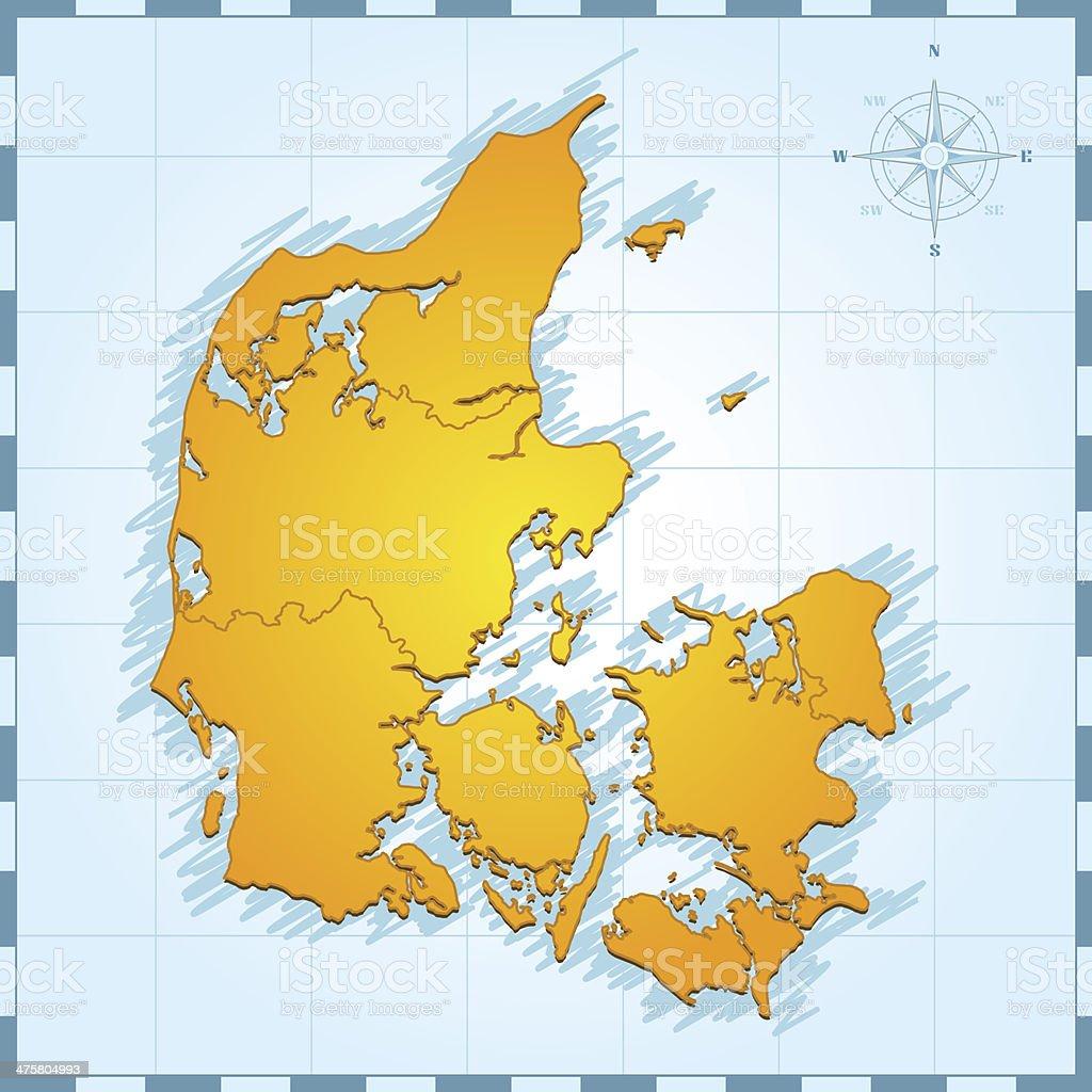 denmark map vintage stock vector art 475804993 istock