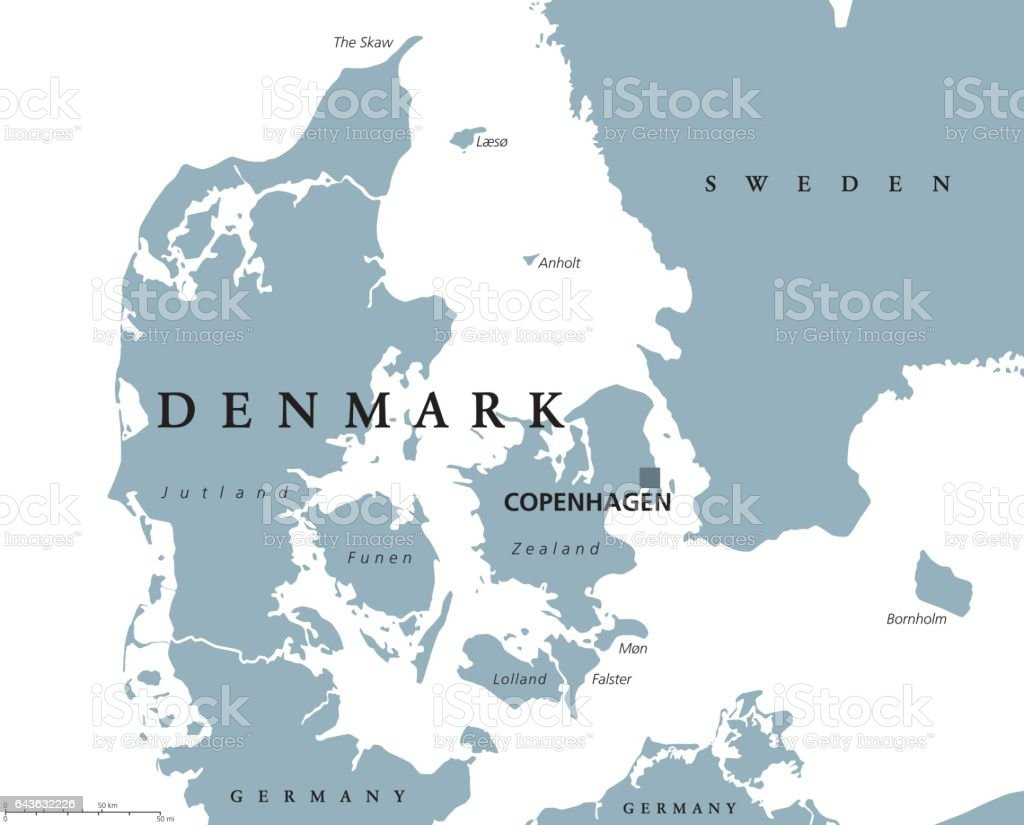 Denmark political map with capital copenhagen and neighbor countries denmark political map with capital copenhagen and neighbor countries kingdom scandinavian and nordic country gumiabroncs Images