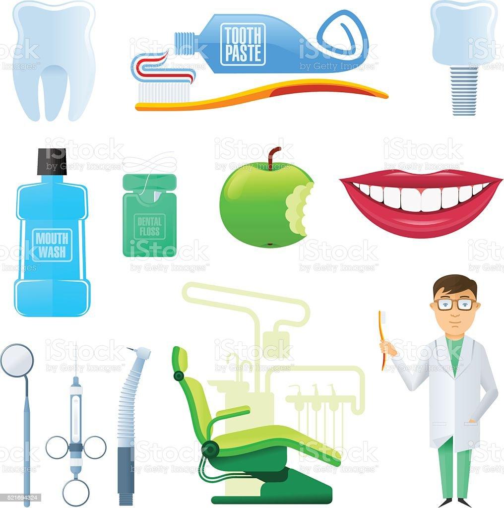 dental 01 vector art illustration