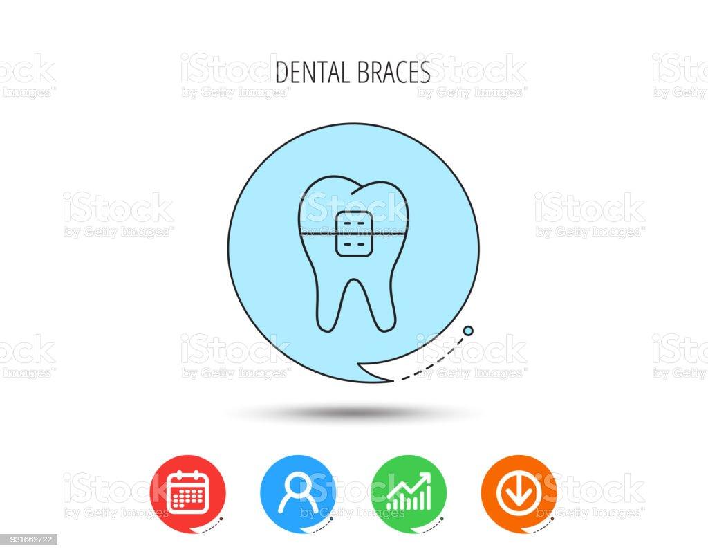 Ilustración de Icono De Aparatos De Ortodoncia Dentista Dientes ...
