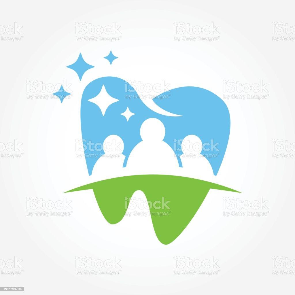 Ilustración de vector símbolo de negocio dental - ilustración de arte vectorial