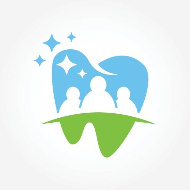 ilustraciones, imágenes clip art, dibujos animados e iconos de stock de ilustración de vector símbolo de negocio dental - logos de dentista