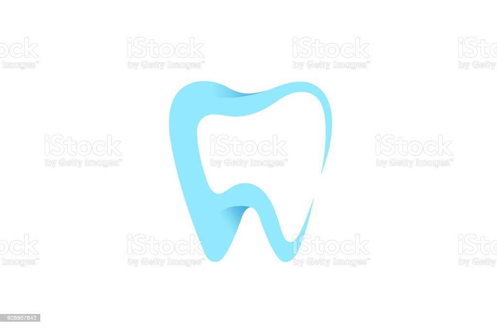 Icono de dientes limpio cuidado dental, - ilustración de arte vectorial