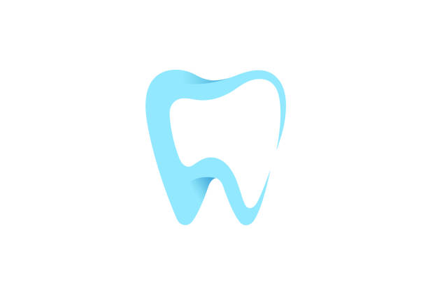 illustrazioni stock, clip art, cartoni animati e icone di tendenza di dental care clean teeth icon, - denti