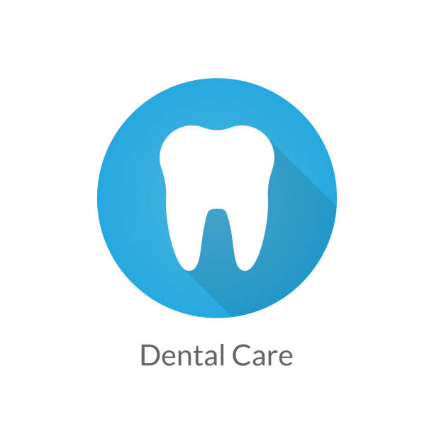 illustrazioni stock, clip art, cartoni animati e icone di tendenza di dental care icon - denti