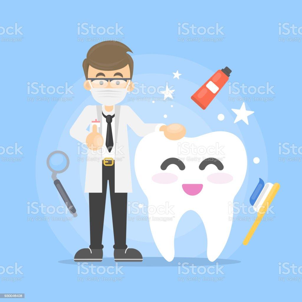 Ilustração de cuidados dentários. - ilustração de arte em vetor