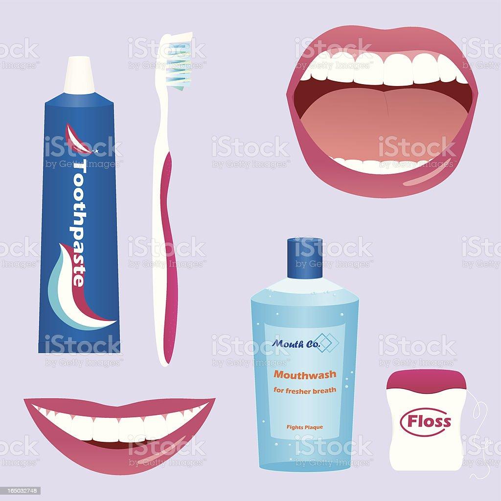 Dental Care - incl. jpeg royalty-free stock vector art