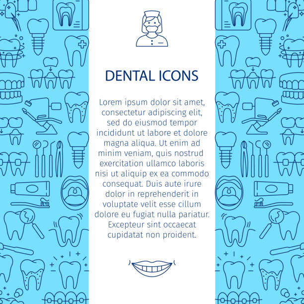 dental care pattern - orthodontist stock illustrations, clip art, cartoons, & icons