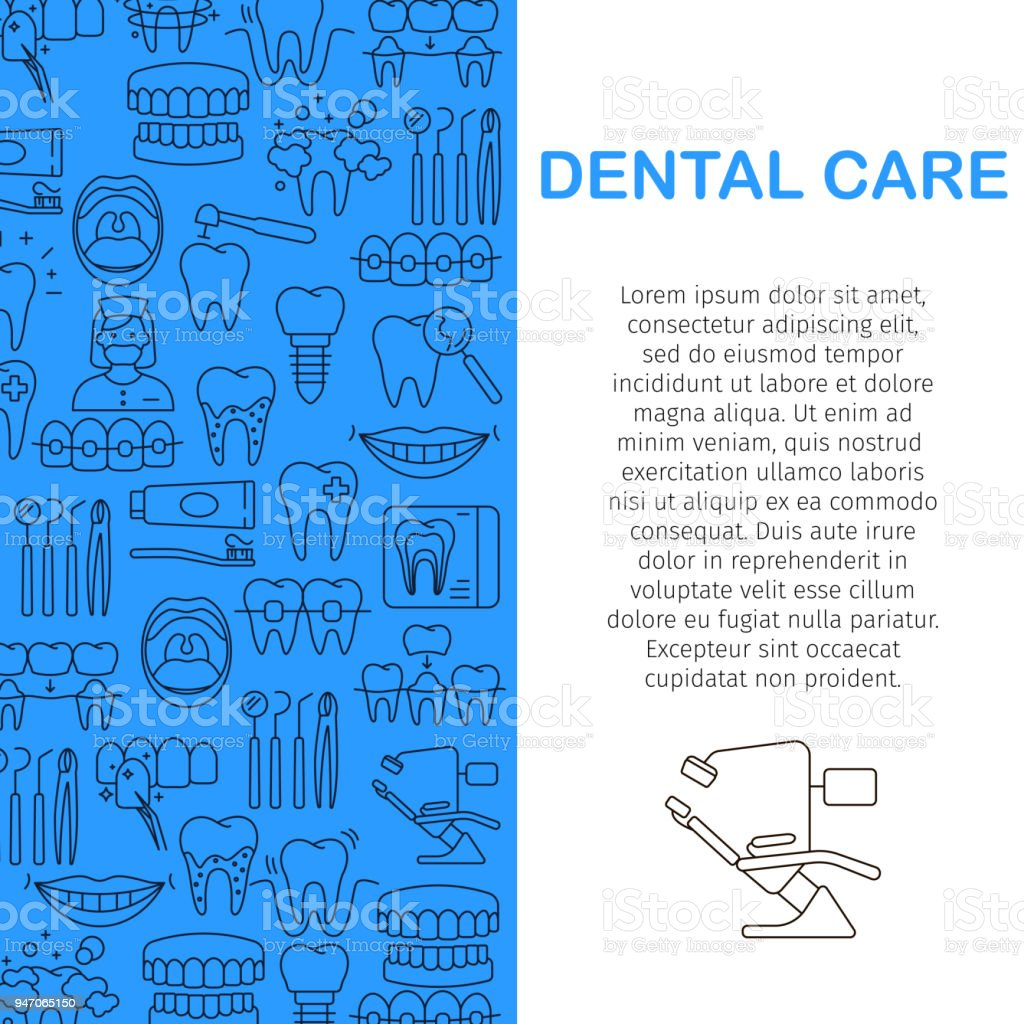 Dental care pattern vector art illustration