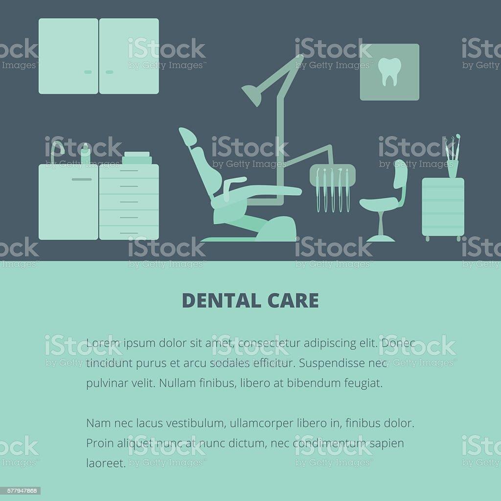 Dental care. vector art illustration