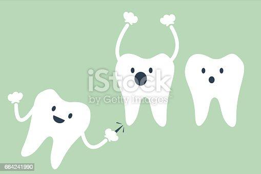 ᐈ Imagen De Vector De Dibujos Animados Dental Muelas Del