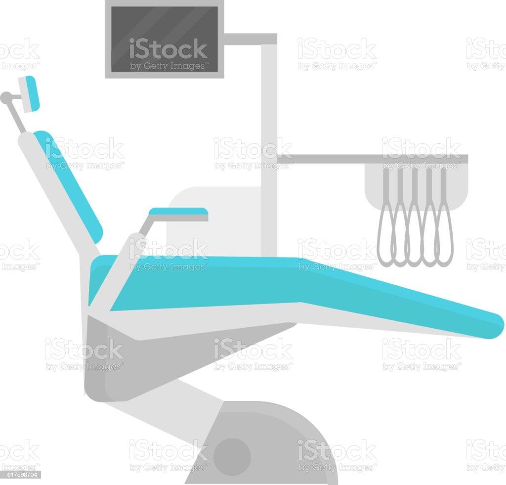 Dental chair clinic vector illustration. vector art illustration