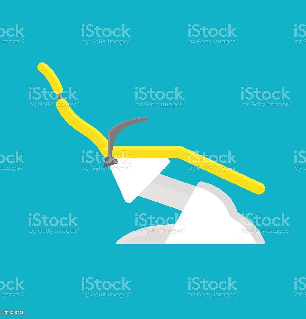 Dental chair  in clinic vector illustration vector art illustration
