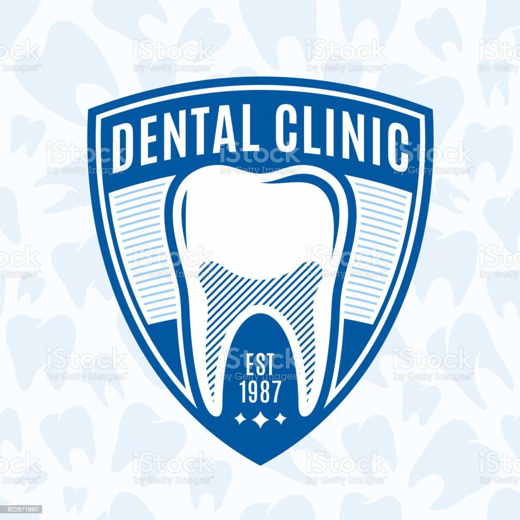 Insignia de clínica dental - ilustración de arte vectorial